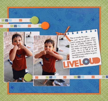 Funny Faces Scrapbook Layout