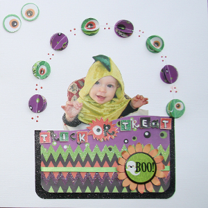Trick or Treat Halloween Scrapbook Layout