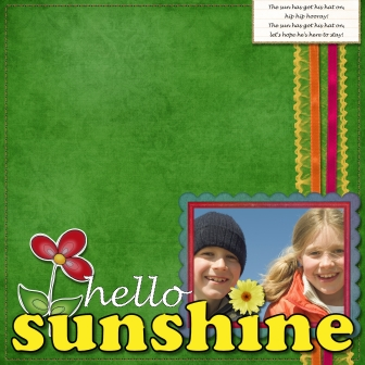 Hello Sunshine Layout