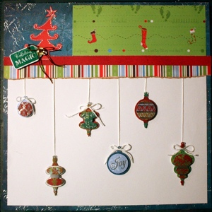 Holiday Magic Scrapbook Layout