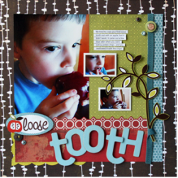 Loose Tooth Scrapbook Page