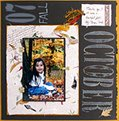 October Scrapbook Page