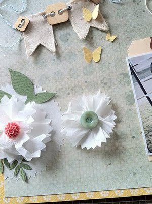 tissue paper flower embellishment