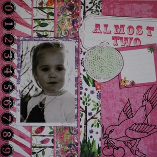 Almost Two Scrapbook Page