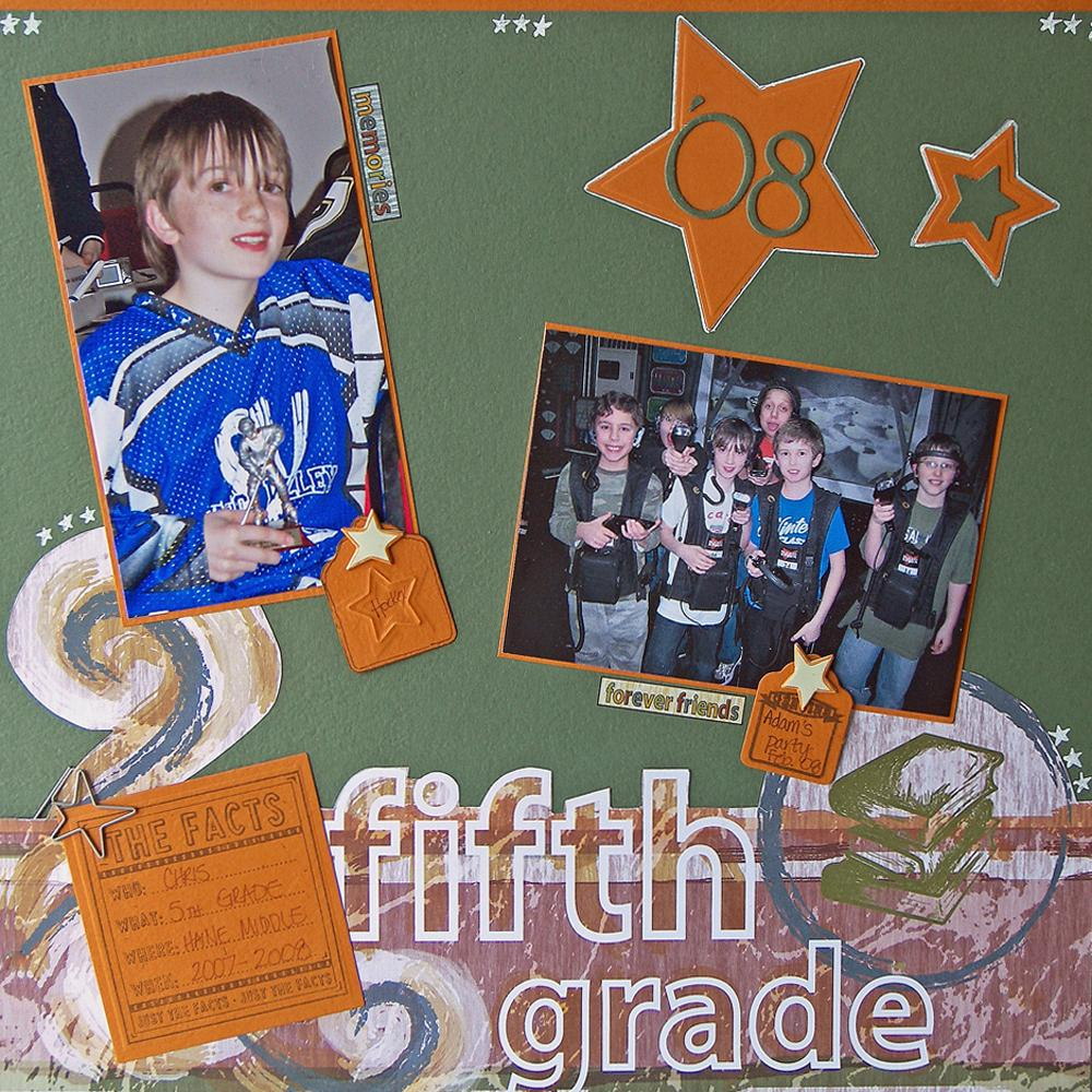 Fifth Grade Scrapbook Layout