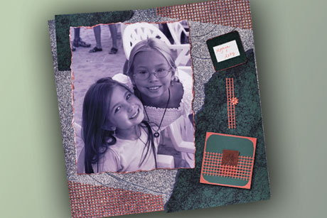 Textured Scrapbook Layout