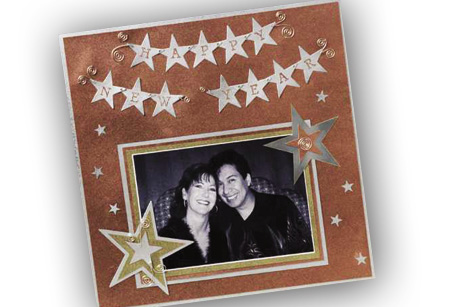New Years Eve Scrapbook Layout