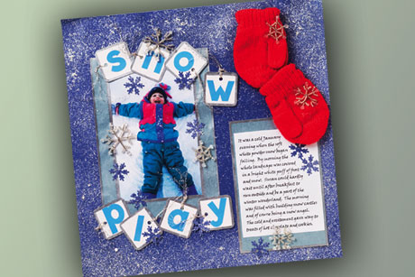 Snow PLay Time Scrapbook Layout