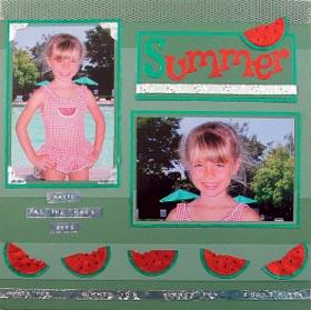 Summer Watermelon Scrapbook Page Favecrafts Com