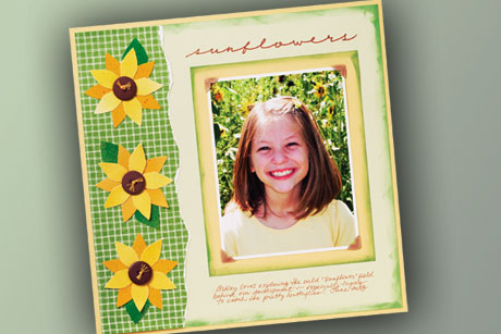 Summer SUnflowers Scrapbook Page