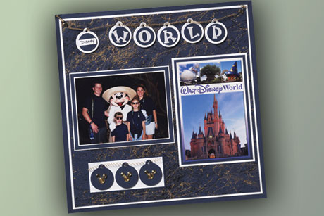 Theme Park Scrapbook Layout
