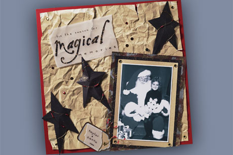 Free Holiday Scrapbook Layout
