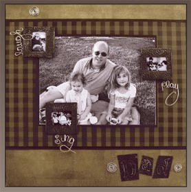 What Makes A Great Dad Scrapbook Page Favecrafts Com