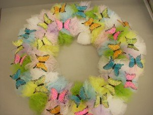Colors of Spring Butterfly Wreath