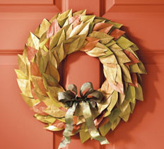 Metallic Autumn Wreath