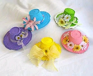 Mini Spring Bonnets Crafting in Miniature: Yay or Nay?