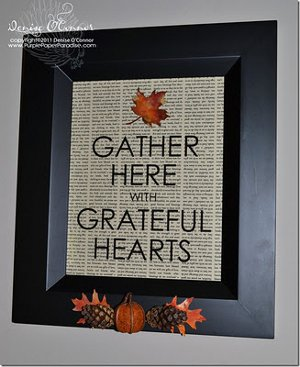 Autumn Blessings Frame