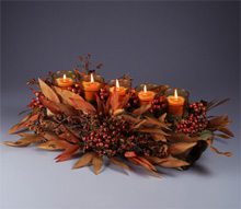 Autumn Votive Centerpiece
