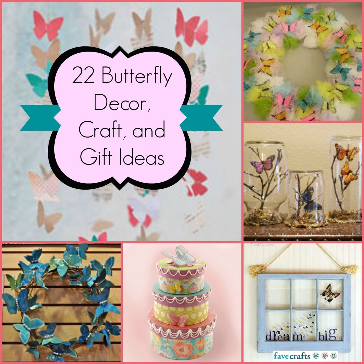 22 Butterfly Decor, Craft and Gift Ideas