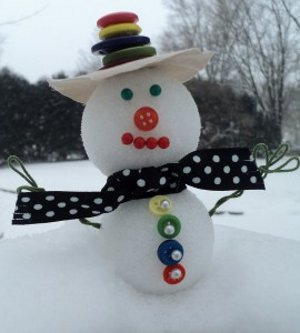 easy peasey snowman
