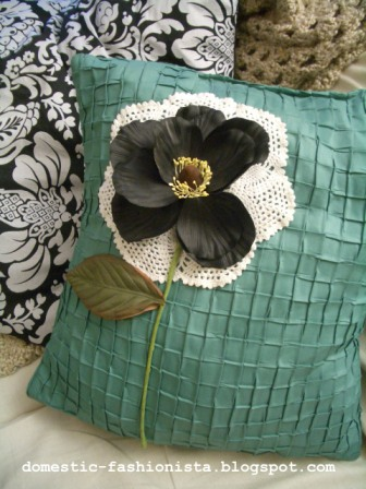 Silk Flower Pillow