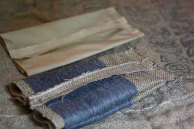 Sewing Burlap Bag