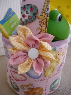 Fabric Easter Basket Flower