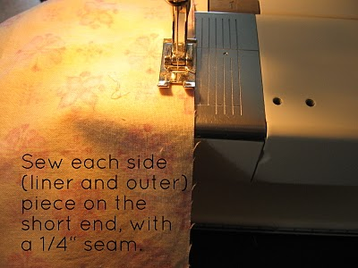 Sew each side