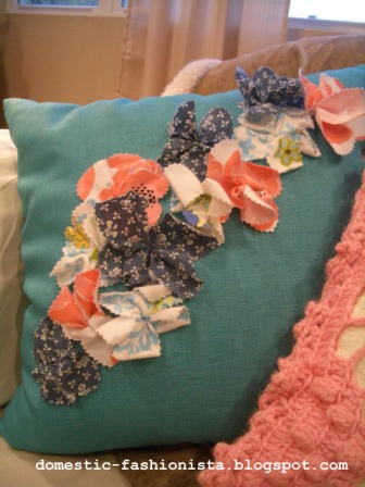 Fabric Flower Pillow