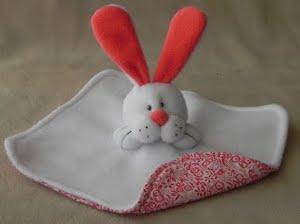 Fuzzy Bunny Baby Blanket