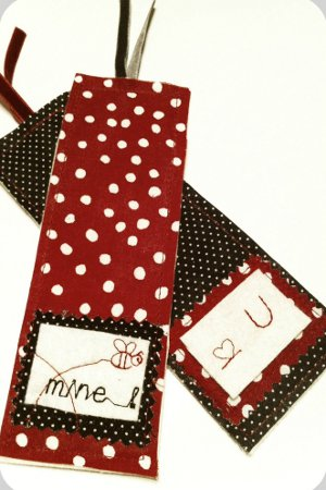 Personalized Fabric Bookmarks