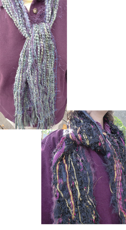 Finished Fiber Scarves