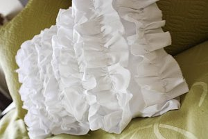 cascading ruffles pillow
