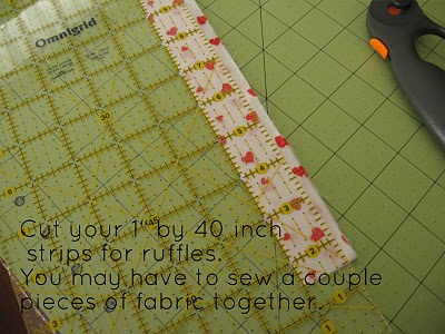 Cutting Strips for Ruffles
