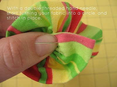 Ruffled Fabric Flower Pin step 5