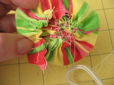 Ruffled Fabric Flower Pin step 8