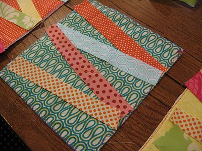 Lay Strips on Fabric