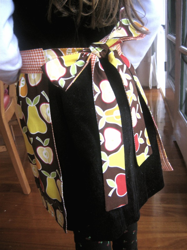 Lined Apron Finished