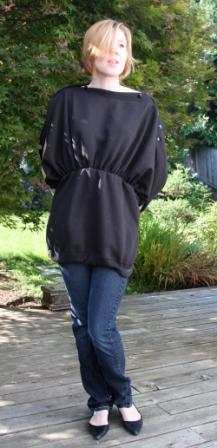 sweatshirtdone1 Guest Sewing Tutorial: Sweatshirts into Chic Button Tunic