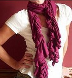 scrunchy tee shirt scarf