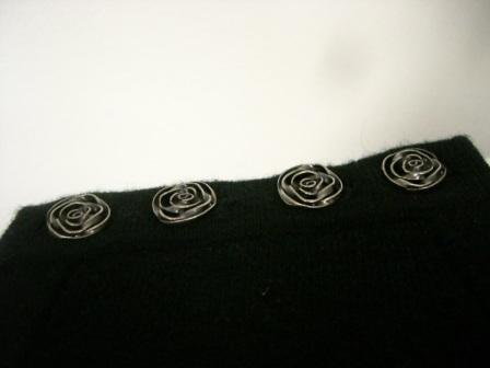 Cashmere Sweater with New Buttons