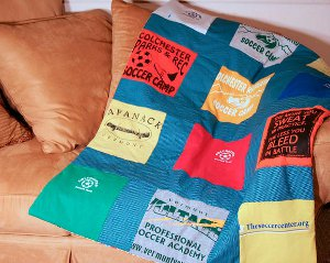 Quilted Tee Shirt Memory Blanket