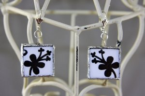 Soldered Glass Earrings