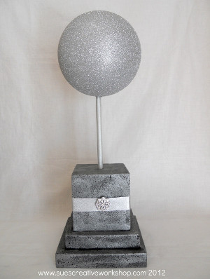 Sweet and Silver Holiday Sphere
