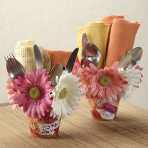 Sweet Scrapbook Flower Pots