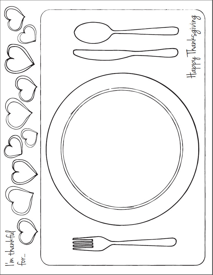 table setting coloring pages - photo #23