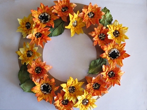 Thanksgiving Pillar Candle Wreath