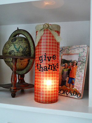 give thanks vase