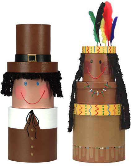 Thanksgiving Indian and Pilgrim Table Toppers