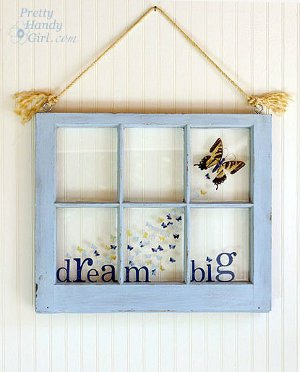 Big Dreams Butterfly Window How to Find Home Decor Craft Ideas